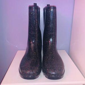 CAPELLI Black Ranbow Sparkle Rain Boota